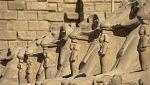 'Espacio en blanco', en el Templo de Karnak