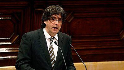 Discurso íntegro de Carles Puigdemont durante el pleno de investidura en el Parlament