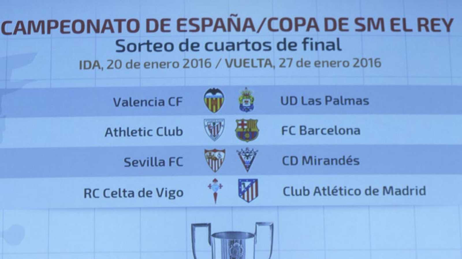 Configurados los cuartos de final de la Copa del Rey - RTVE.es