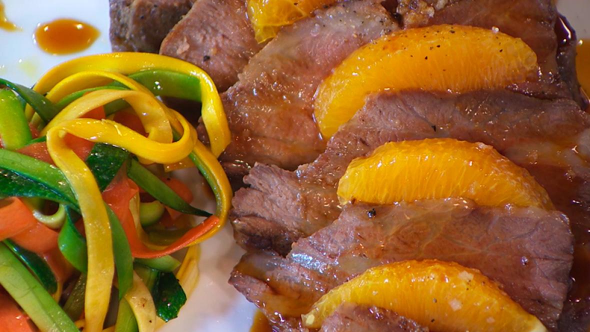 Como Cocinar Presa Iberica   Receta De Presa Paleta Con Salsa De Naranja