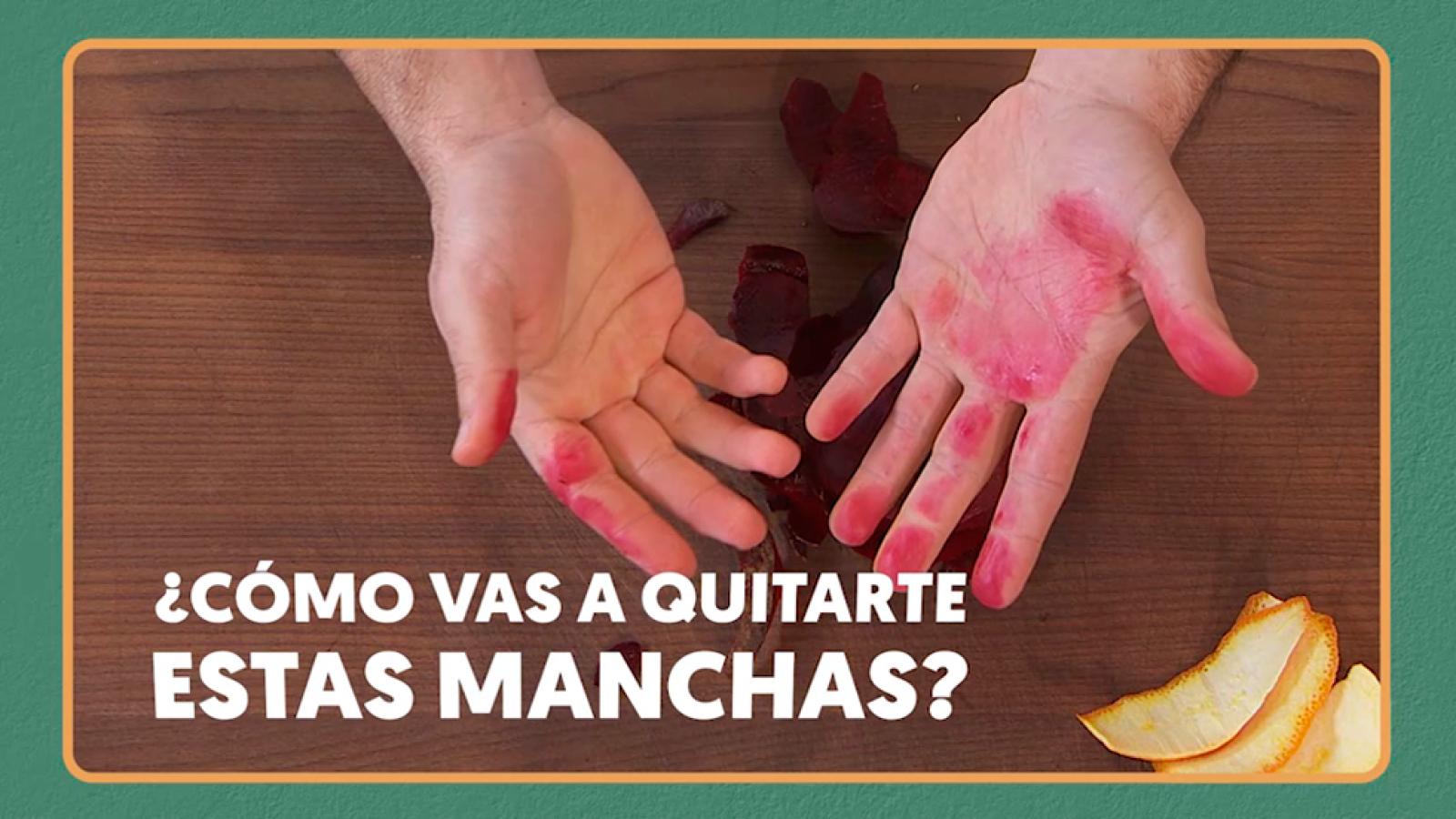 Torres en la cocina Trucos de cocina: Cómo limpiarse las manos de tinta de remolacha