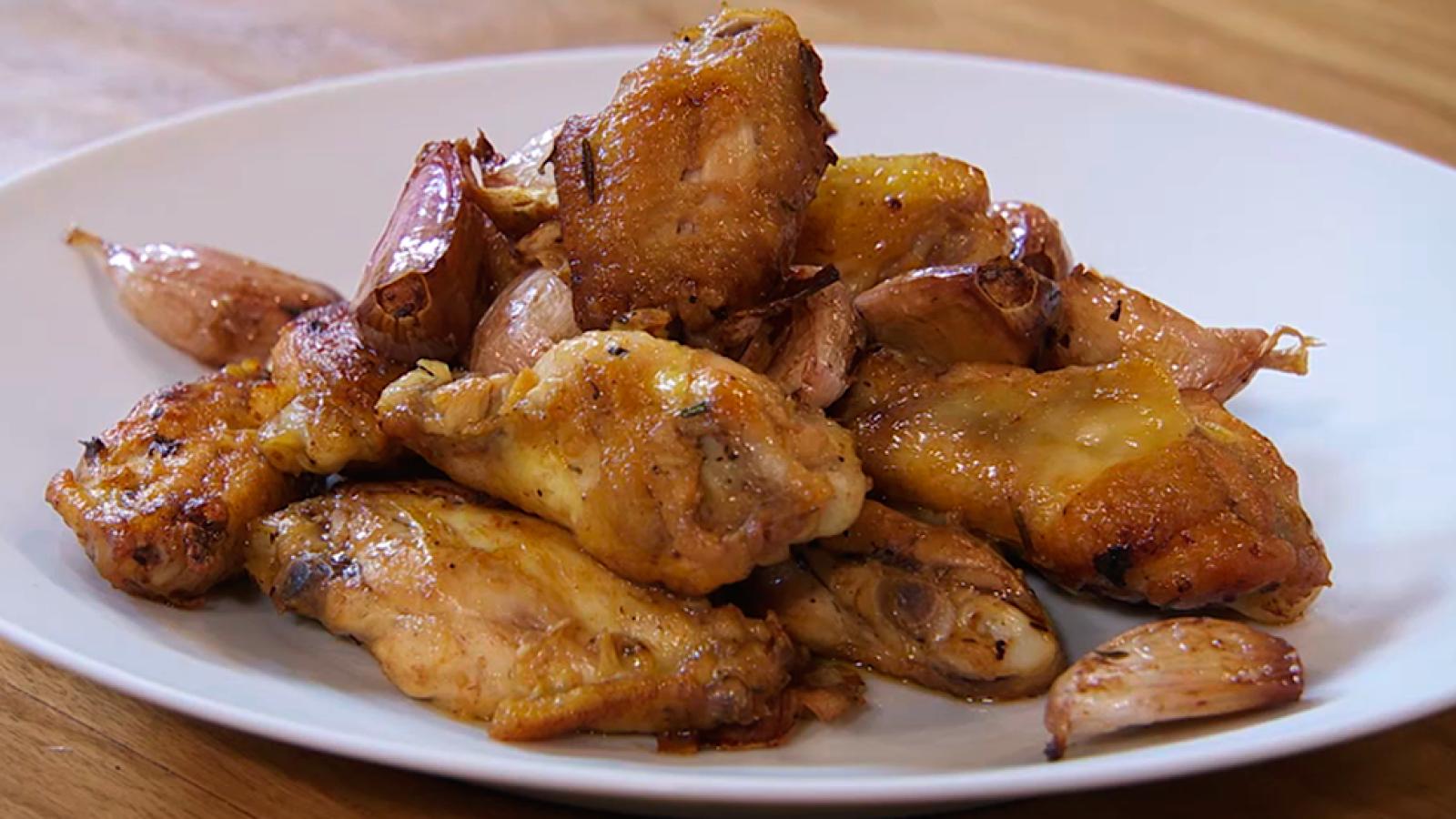 Receta De Alitas De Pollo A Los 100 Ajos - Recetas-de-cocina-con-pollo