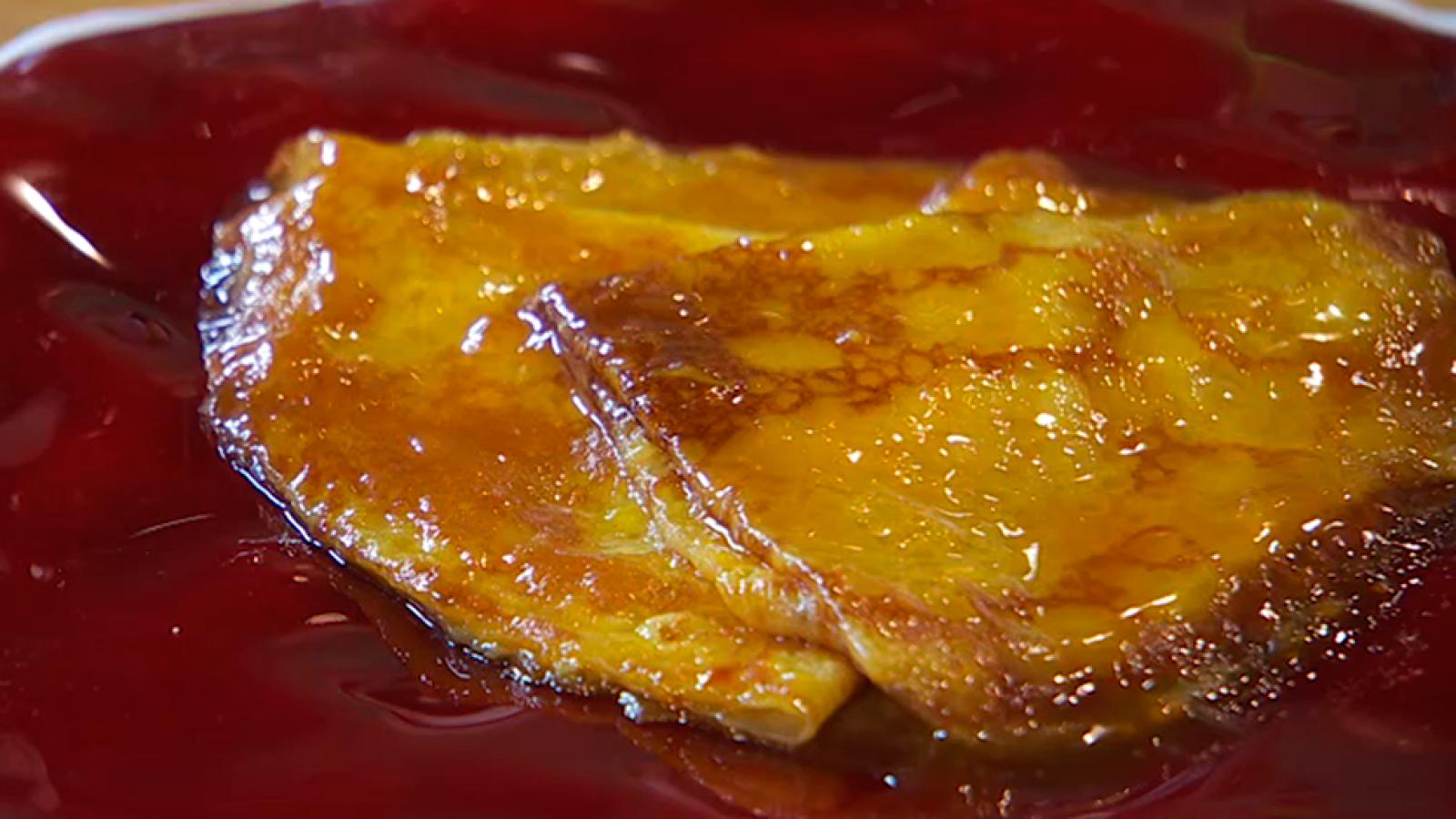 Receta de crepe suzette