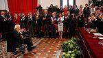 200 personas acompañaron a del Paso en la entrega del Premio Cervantes