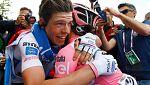 Ciccone gana en Sestola y Brambilla cede la maglia rosa a Jungels