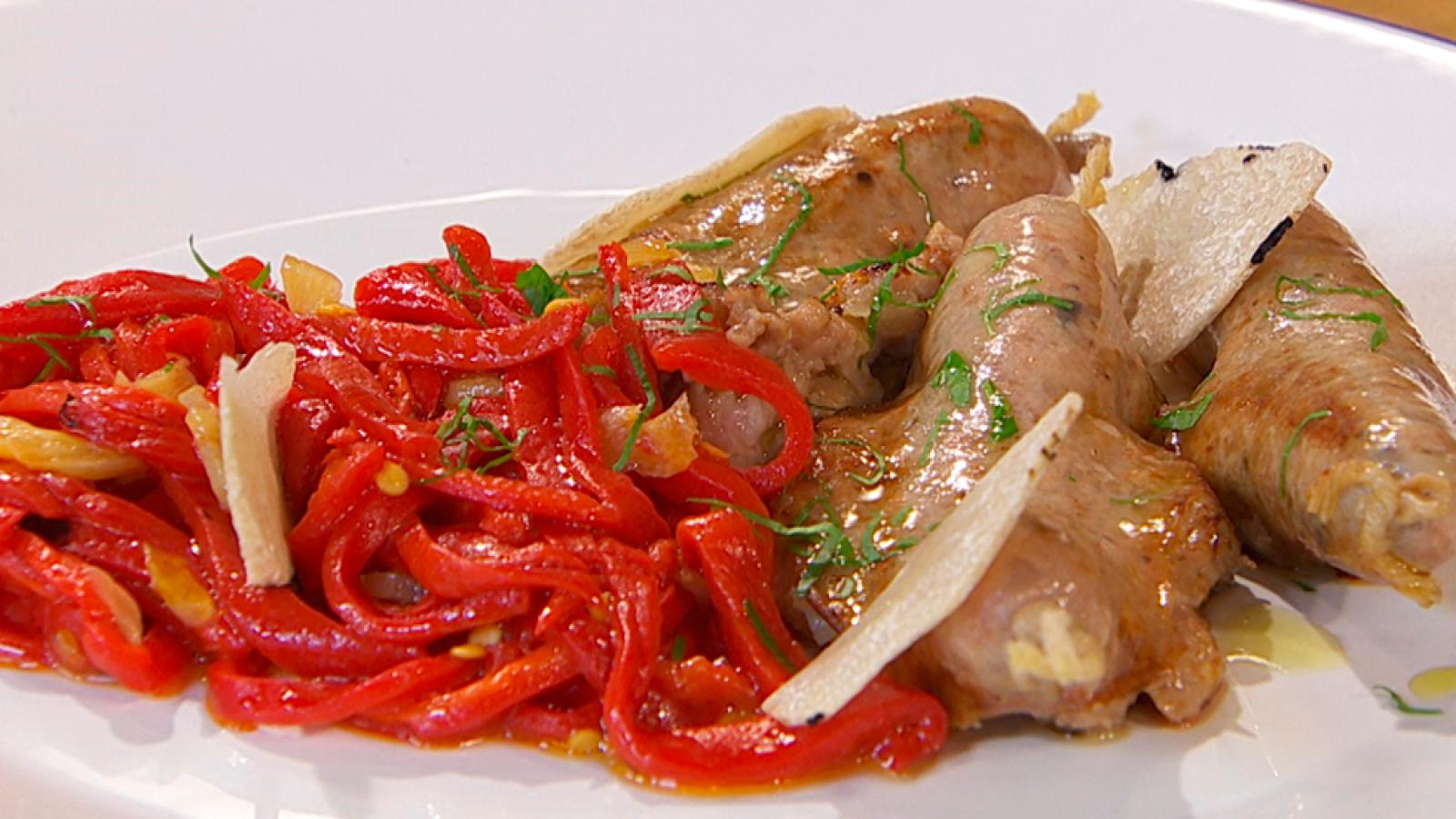 Salchichas De Carne Y Setas