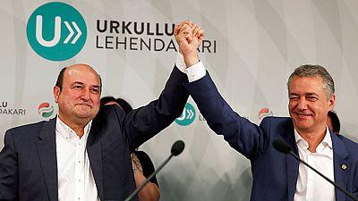 Elecciones vascas: El PNV vuelve a ganar por delante de EH Bildu y Podemos
