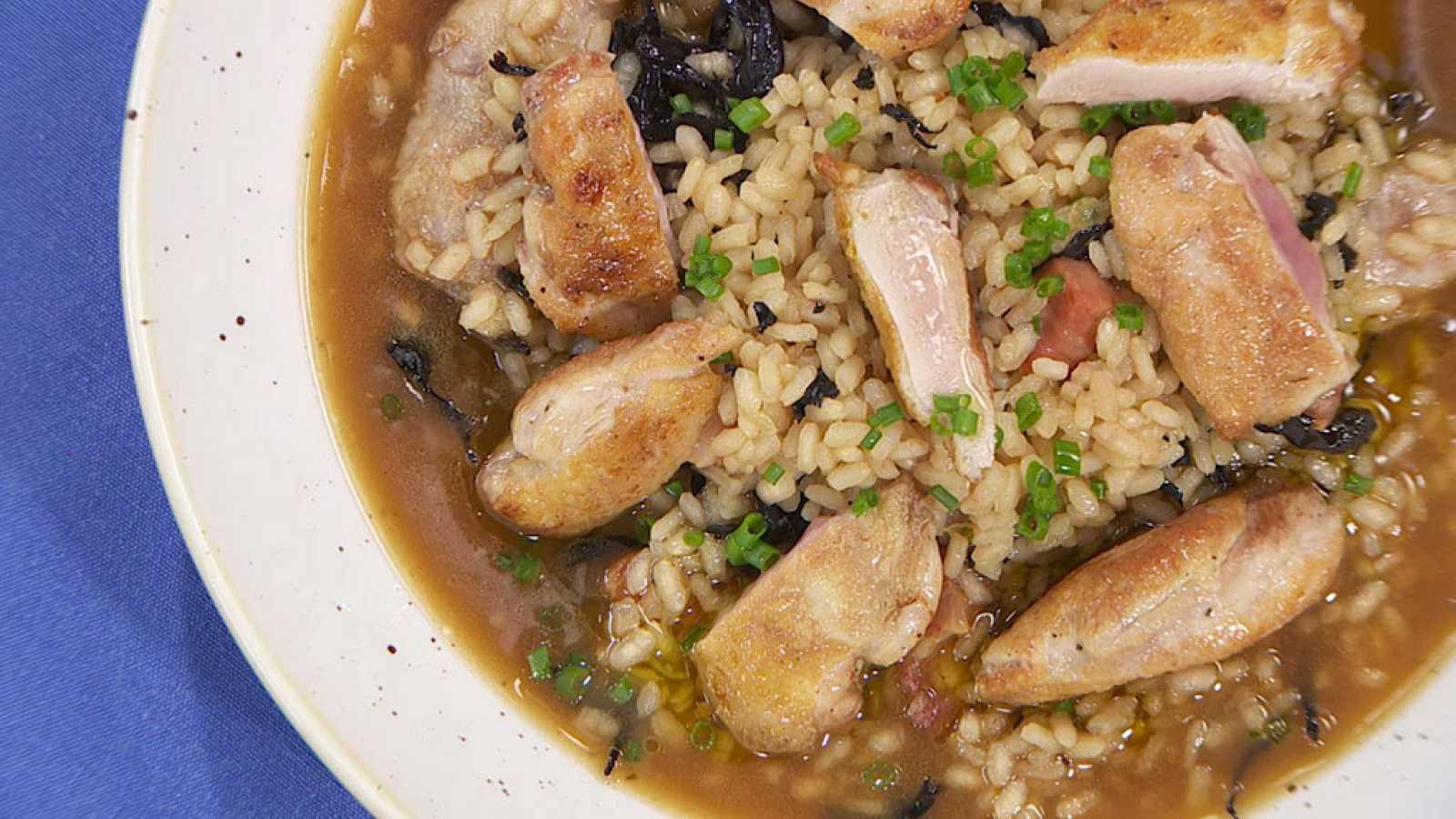 Arroz Caldoso Con Setas Y Pollo torres en la cocina - arroz caldoso con setas y codornices - rtve.es