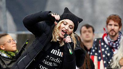 Madonna aparece por sorpresa en la 'Marcha de las Mujeres'