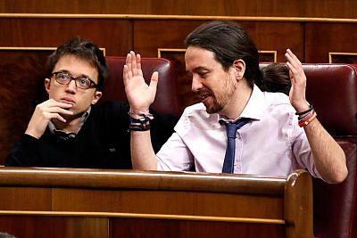 Pablo Iglesias tiene varios rifirrafes en el Congreso de los Diputados
