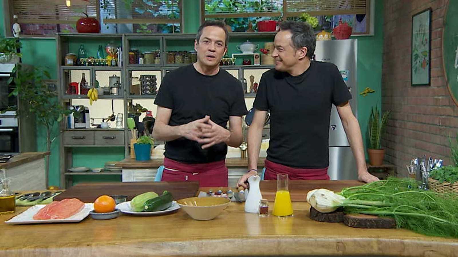 Torres en la cocina - Sopa de gambas y salmón con hinojo - RTVE.es