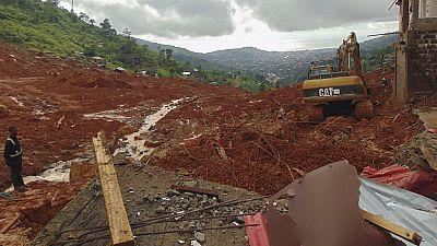 La búsqueda de supervivientes de los corrimientos de tierra continúa en Sierra Leona