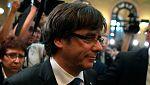 """Puigdemont defiende que """"una mayoría legítima ha culminado un mandato validado a las urnas"""""""