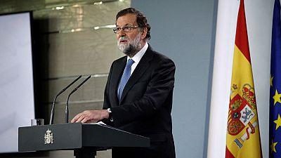 Comparecencia íntegra de Rajoy en la que cesa al Govern y convoca elecciones en Cataluña