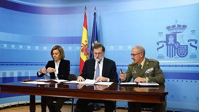 Rajoy agradece a los militares españoles en el exterior su trabajo