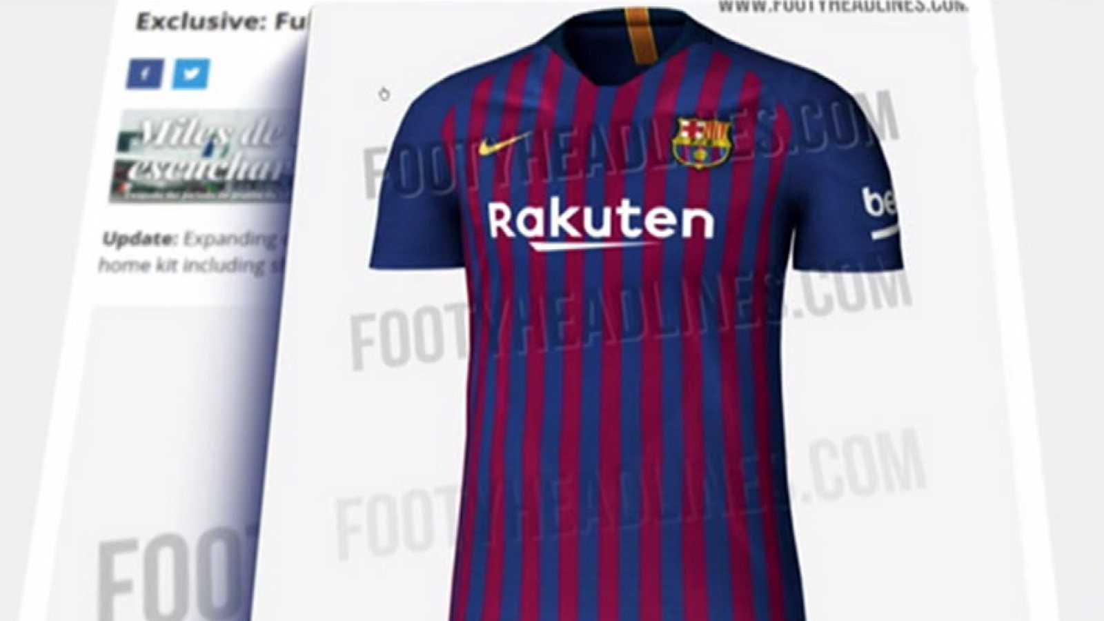 Filtran la camiseta del Barça para la próxima temporada - RTVE.es 7545d1e0b5a