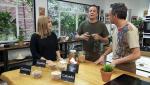 Torres en la cocina - Sepia con guisantes y mousse de zanahoria