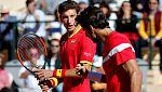 Pablo Carreño y Feliciano López adelantan a España en el dobles