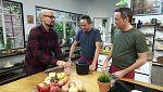 Torres en la cocina - Sopa minestrone y buñuelos de jamón