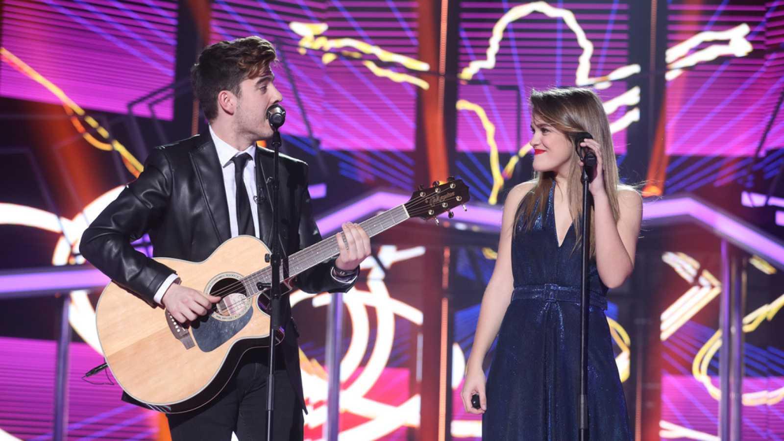 2f473c3518 Para todos los públicos Operación Triunfo - Amaia y Roi cantan  Shape of you   en la Gala Fiesta reproducir video