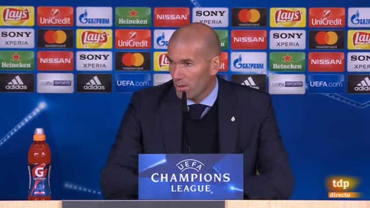 """El entrenador francés del Real Madrid ha dicho que la victoria blanca """"ha sido merecida"""" pero avisa de que la eliminatoria no está cerrada."""