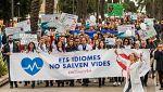 Manifestación en Palma contra la exigencia del uso del catalán en la sanidad