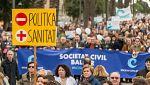 Manifestación en Palma contra la exigencia del catalán en la sanidad