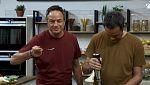 Torres en la cocina - Cuscus de gambas y lasaña de berenjena