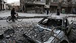 Las tropas gubernamentales sirias siguen bombardeando Guta Oriental