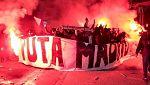 Los ultras del PSG rompen el descanso de los jugadores blancos