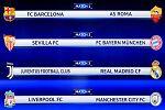 Barça-Roma, Juventus-Real Madrid y Sevilla-Bayern, cruces de cuartos