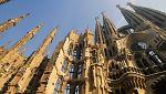 Varios jóvenes británicos escalan la fachada de la Sagrada Familia para colgar la 'hazaña' en internet