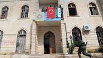 La bandera de Turquía ondea en Afrín, ciudad siria hasta ahora ocupada por los kurdos