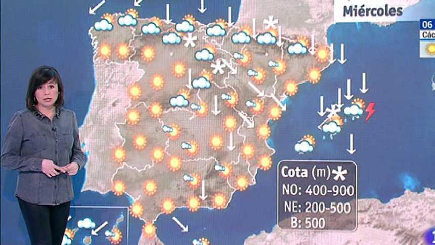 Este miércoles habrá viento fuerte en Pirineos, Ampurdán, Canarias y este de Baleares