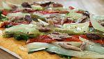 Torres en la cocina - Coca de verduras y sardina