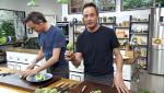 Torres en la cocina - Alcachofas con guisantes y pescado de coco