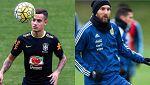 Brasil y Argentina preparan el Mundial ante Rusia e Italia