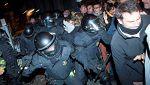 Enfrentamientos en Barcelona entre manifestantes y antidisturbios por los encarcelamientos