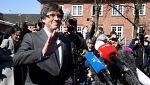 """Puigdemont sale de la cárcel alemana: """"Es una vergüenza para Europa tener presos políticos"""""""