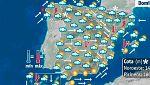 Lluvias en el noreste y oeste peninsular y temperaturas diurnas en descenso
