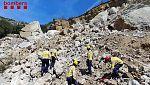 Hallan dos cadávares en el coche sepultado este lunes en Lleida por un desprendimiento de tierra y rocas