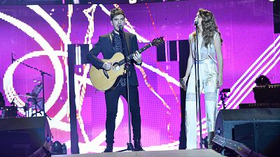 Concierto OT - Amaia y Roi cantan 'Shape of you'