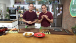 Torres en la cocina - Crema de berenjena y curry de pollo