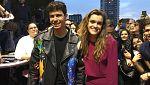 Eurovisión 2018 -  Amaia y Alfred llegan a la alfombra roja de la ES Pre-Party