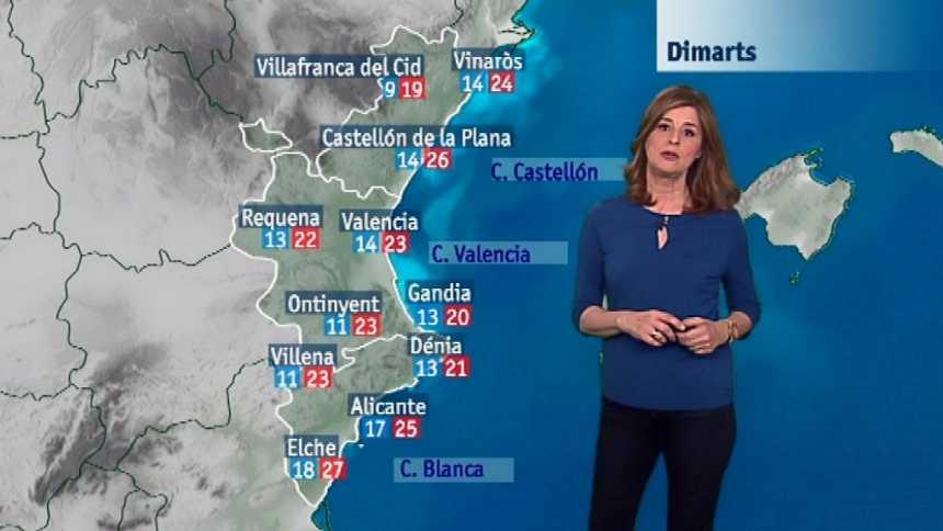 El tiempo en la Comunidad Valenciana - 23/04/18
