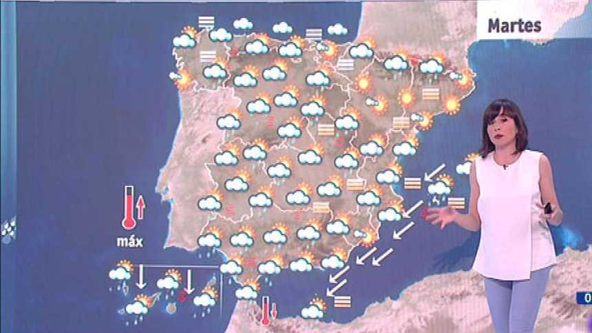 Este martes habrá tormentas fuertes en Andalucía y ascenso de las temperaturas en el tercio norte