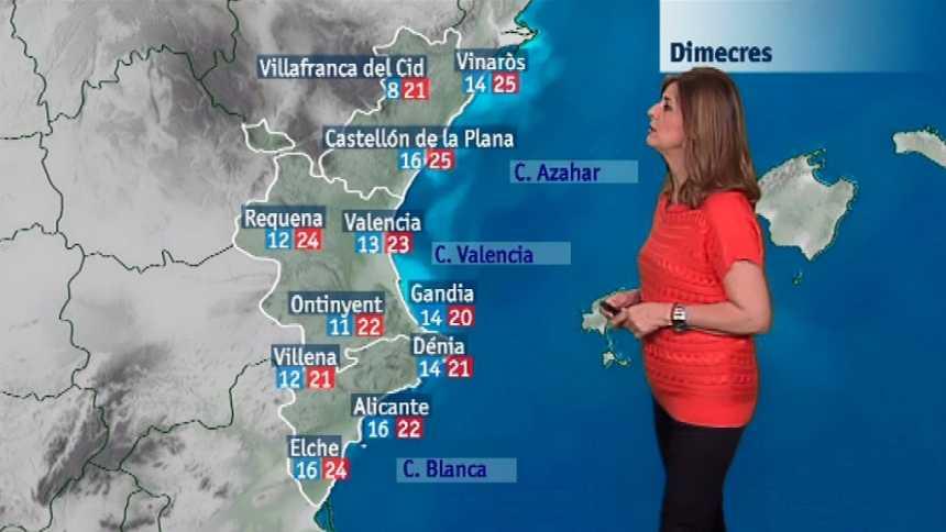 El tiempo en la Comunidad Valenciana - 24/04/18
