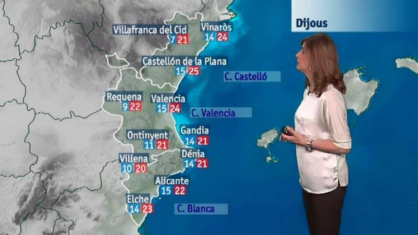 El tiempo en la Comunidad Valenciana - 25/04/18