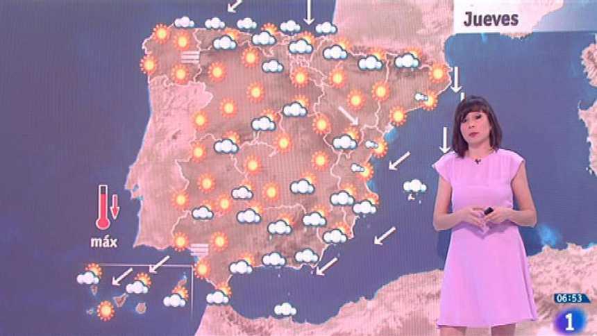 Este jueves habrá chubascos en el sudeste y temperaturas en ascenso en Galicia y Andalucía