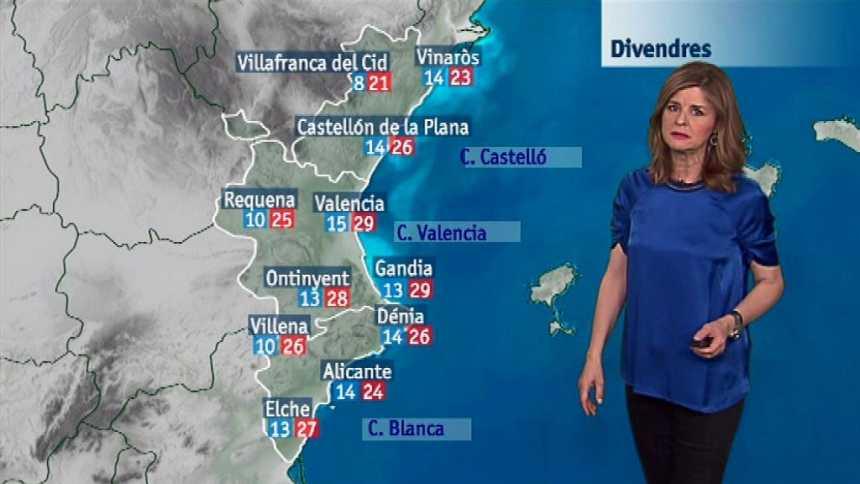 El tiempo en la Comunidad Valenciana - 26/04/18